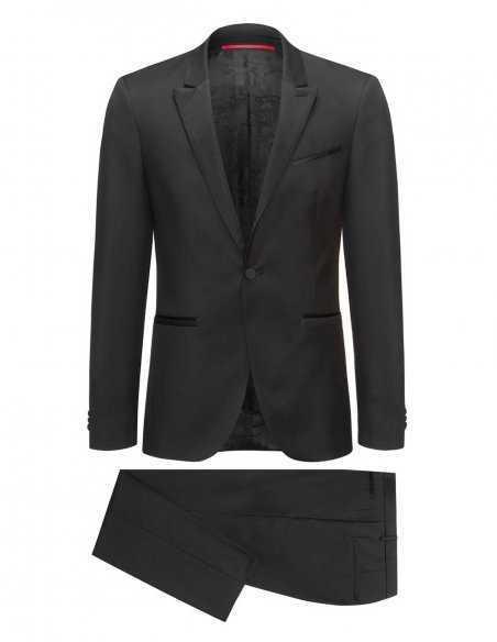 Smoking Hugo Boss noir pour homme business et cérémonie, tendance et élégant