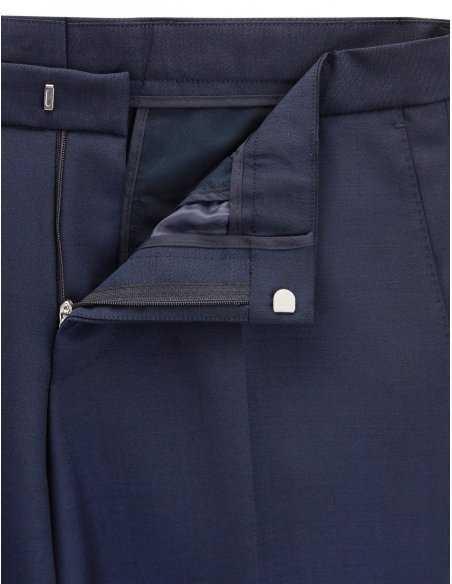 Costume Boss par hugo boss, en laine vierge et mohair, pour homme, slim fit, pantalon agrafe et zip, business