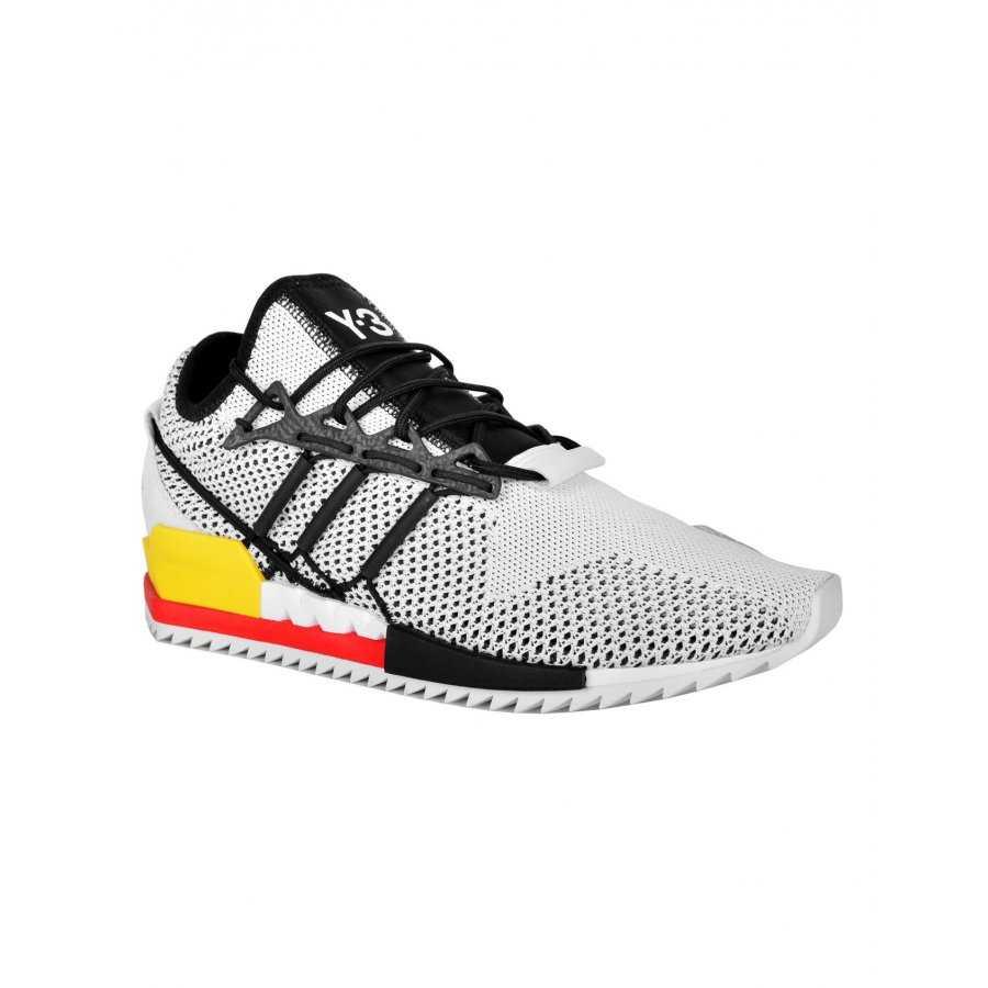 Y3 Cuir Sneakers Pour En Homme Tissu Adidas Blanches Et Basket 4x1w0qvt