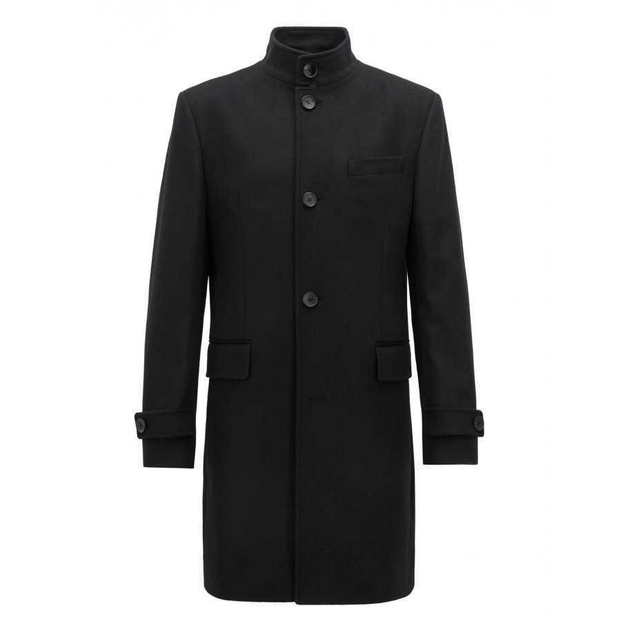5204d5f13ad Manteau Boss Black noir élégant en laine et cashemire