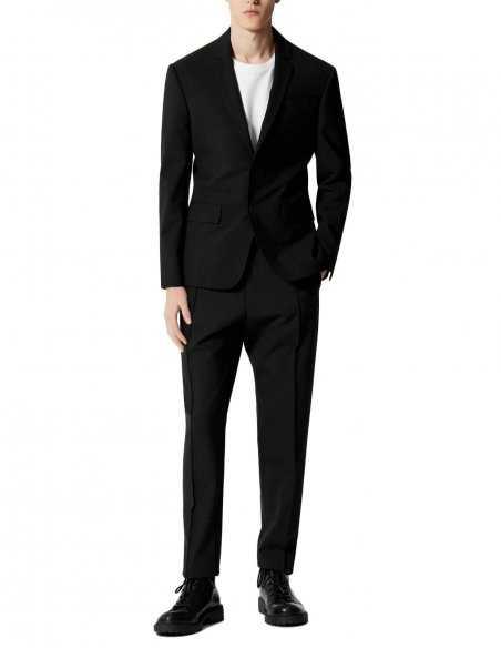 Blazer Kenzo veste pour homme coupe slim couleur noir, 2 boutons, revers de col, 4 poches interieures