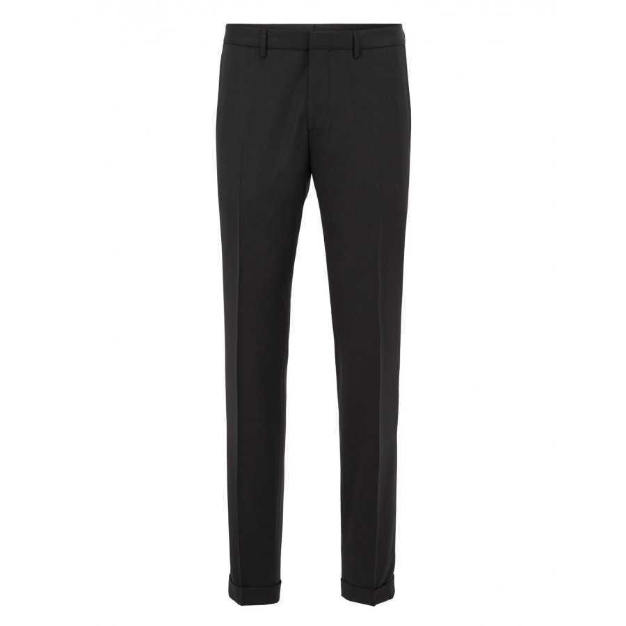 pantalon de costume noir laine vierge sytle habill boss slim fit. Black Bedroom Furniture Sets. Home Design Ideas