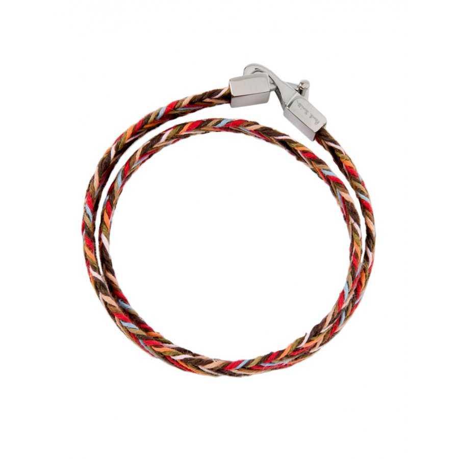 Smith Multicolore Paul CuirCotonCuivre Bracelet Rayure En À QrtsdxBhC