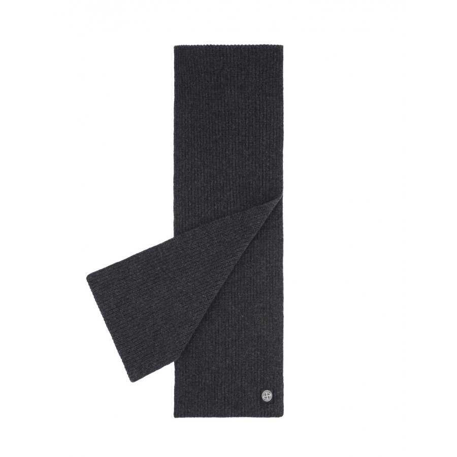 Écharpe Stone Island chaude et confortable en laine pour homme, anthracite,  gris, sport 2eeb75822ab