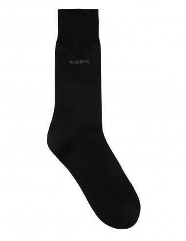 Chaussettes Boss en coton pour homme business, ne glisse pas, logo présent, ne comprime pas les orteils