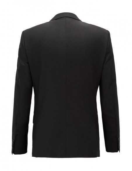 Veste Boss Black blazer noir pour homme en laine vierge stretch confortable, revers crantétoulouse