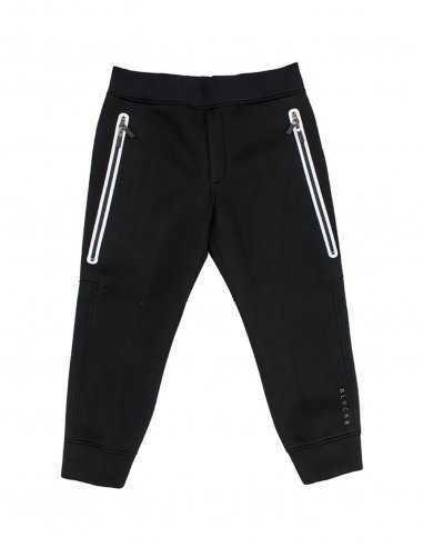 Pantalon de jogging Blackbarrett noir en tissu technique pour homme large poches double curseur, très mode coupe slim