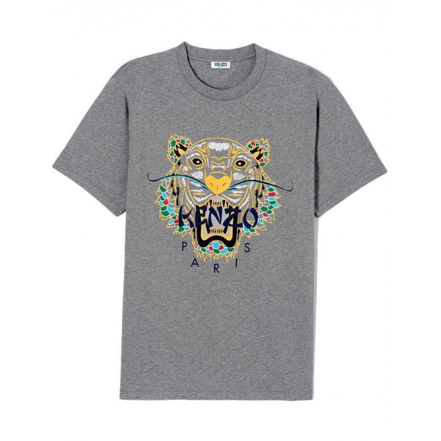T-shirt Kenzo dragon tiger moustache et écaille de dragon imprimé jaune et  multicolore pour e420c56f78a