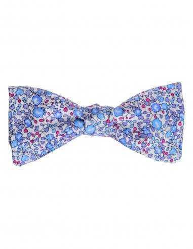 Noeud Papillon à fleurs bleues Atelier Frères pour homme, coton, couleur bleu motif floral, accessoire de mariage