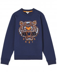 Kenzo - Sweatshirt Tigre Bleu Marine