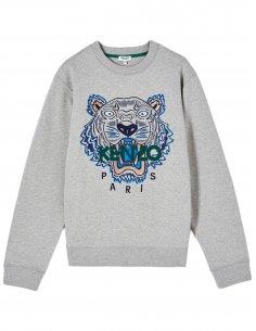 Kenzo - Sweatshirt Tigre Gris Perle