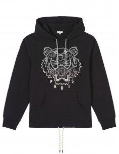 Kenzo - Sweatshirt à capuche Tigre Noir