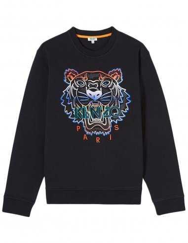 Dégradé NoirKenzo Sweatshirt Tigre Homme 100Coton Pour xCeodB