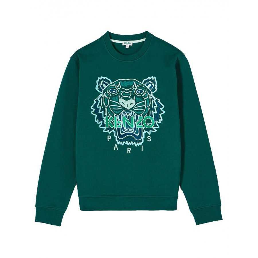 Sweatshirt Tigre Vert ⎢ Kenzo ⎢ Broderie