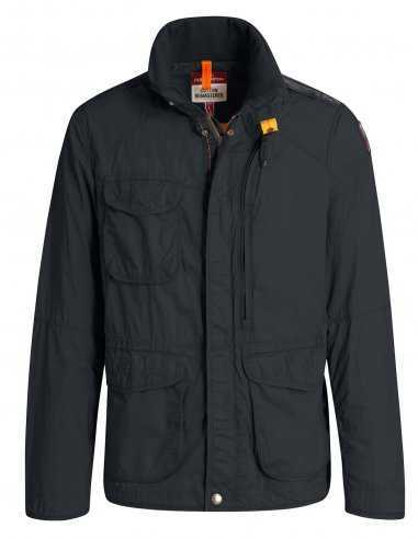 blouson-veste-homme-en-coton-parajumpers-pjs-bleu-marine-noir-logo-PJS-capuche-impermeable-toulouse-biarritz-bordeaux-montpellie