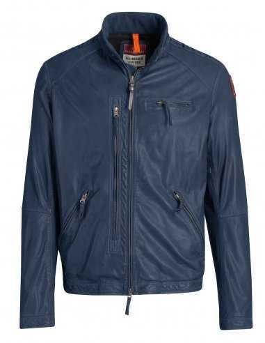 veste-en-cuir-bleu-homme-mi-saison-motard-pjs-parajumpers-homme-toulouse-blagnac-bordeaux-biarritz