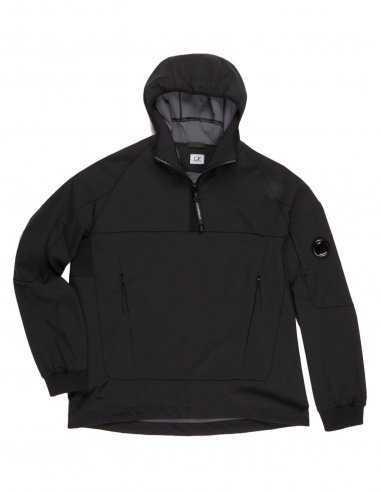 CP Company - Blouson à capuche Noir Quarter Zip