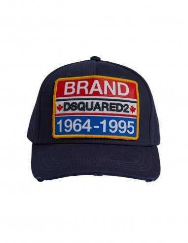 """Dsquared2 - Casquette Bleu patch """"Dsquared2 Brand"""""""