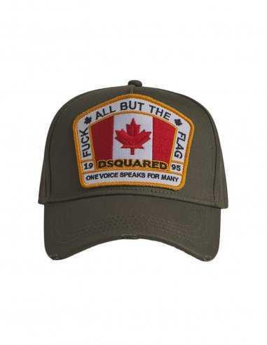 Dsquared2 - Casquette Canada patch Vert Kaki