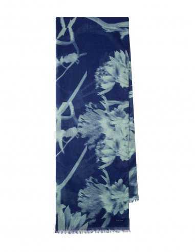 Paul Smith - Écharpe Bleu Marine Motif Floral