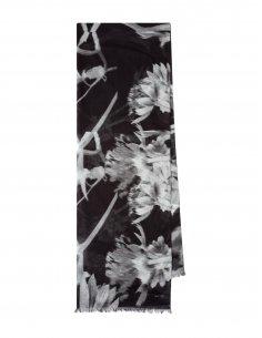Paul Smith - Écharpe Noire Motif Floral