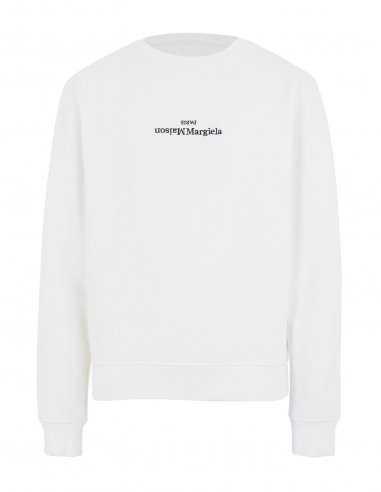 Margiela - Sweatshirt Blanc Logo