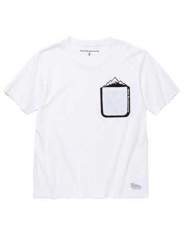 White Mountaineering - T-shirt Noir avec poche imprimée