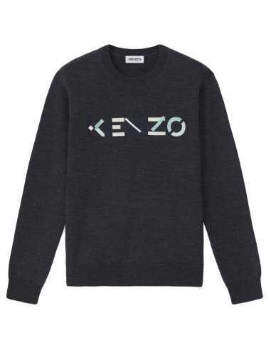 "Kenzo - Pull Gris Logo ""Kenzo"""