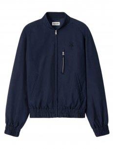 Kenzo - Bomber bleu marine zippé en coton