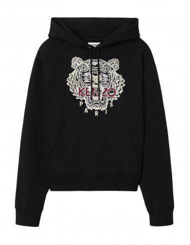 Kenzo - Sweatshirt à capuche Noir broderie Tigre