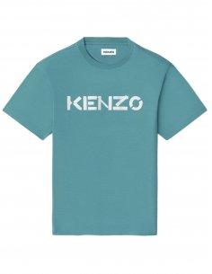 Kenzo - T-shirt Bleu Logo Kenzo