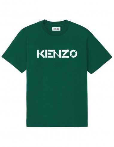 Kenzo - T-shirt Vert Logo Kenzo
