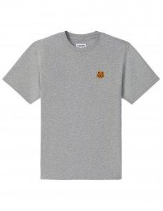 Kenzo - T-shirt Gris Perle Mini Tigre