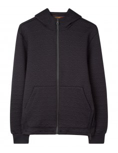 Paul Smith - Sweatshirt zippé à capuche Noir en Jacquard
