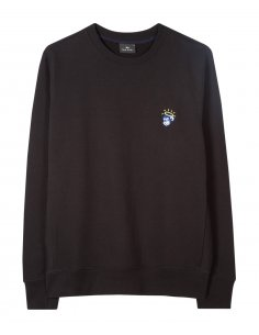 "PS by Paul Smith - Sweatshirt Noir Logo ""Angel Monkey"""