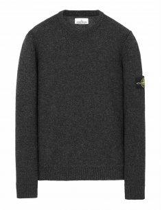 Stone Island - Pull gris en laine