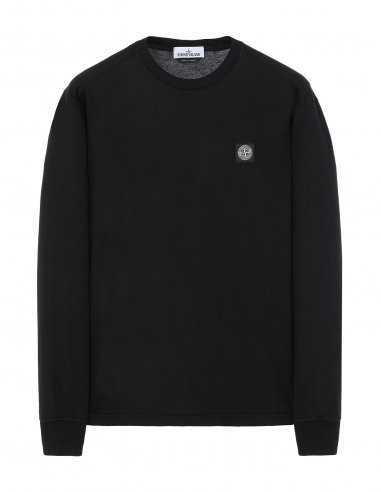 Stone Island - T-Shirt Manches longues en Jersey Noir