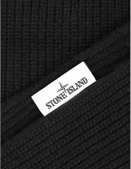 Stone Island - Echarpe Noire en laine