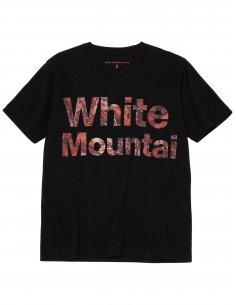 """White Mountaineering - T-shirt Noir imprimé """"Feuilles d'Automne"""""""