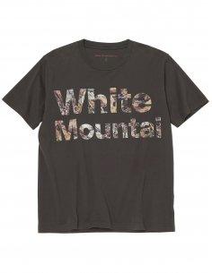 """White Mountaineering - T-shirt Charbon imprimé """"Feuilles Fanées"""""""