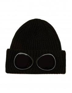 CP Company - Bonnet à lunettes noir
