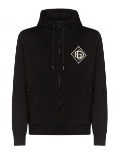 Dolce & Gabbana - Sweatshirt zippé à capuche Logo D&G