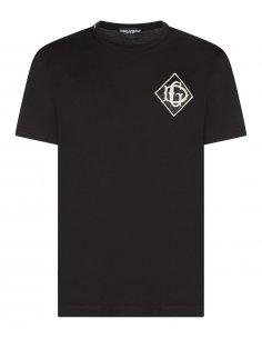 Dolce & Gabbana - T-shirt Noir avec broderie DG