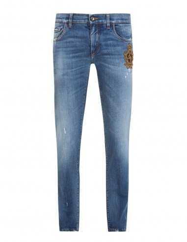 Dolce & Gabbana - Jean Skinny stretch à écusson brodé
