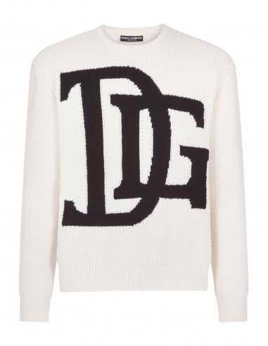 Dolce & Gabbana - Pull en laine avec Logo DG