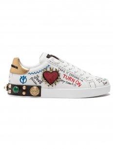 Dolce Gabbana - Sneakers Portofino en cuir