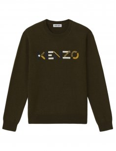 Kenzo - Pull Logo Kenzo Kaki