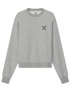 Kenzo - Sweatshirt 'Little X' Gris Perle