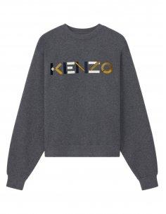 """Kenzo - Sweatshirt gris Logo """"Kenzo"""""""