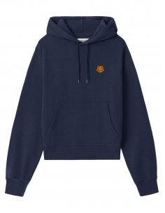 Kenzo - Sweatshirt à capuche Tiger Crest Bleu Marine